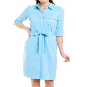 NWT Bright Blue H. McLaughlin Gilchrist Shirtdress